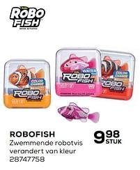 Aanbiedingen Robofish zwemmende robotvis - Robofish - Geldig van 20/04/2021 tot 25/05/2021 bij Supra Bazar