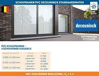 Aanbiedingen Schuiframen pvc deceuninck standaardmaten - Deceuninck - Geldig van 25/05/2021 tot 21/06/2021 bij Zelfbouwmarkt