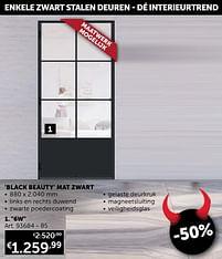 Aanbiedingen Stalen deur 6w panel black beauty mat zwart -  - Geldig van 25/05/2021 tot 21/06/2021 bij Zelfbouwmarkt
