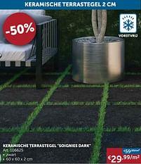 Aanbiedingen Keramische terrastegel soignies dark -  - Geldig van 25/05/2021 tot 21/06/2021 bij Zelfbouwmarkt