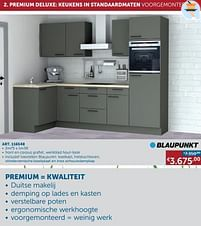 Aanbiedingen Premium deluxe: keukens in standaardmaten voorgemonteerd -  - Geldig van 25/05/2021 tot 21/06/2021 bij Zelfbouwmarkt