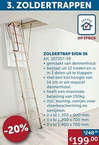 Aanbiedingen Zoldertrap sion 36 -  - Geldig van 25/05/2021 tot 21/06/2021 bij Zelfbouwmarkt