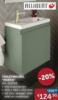Aanbiedingen Toiletmeubel porto - Allibert - Geldig van 25/05/2021 tot 21/06/2021 bij Zelfbouwmarkt