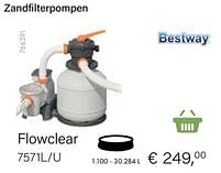 Aanbiedingen Bestway zandfilterpompen flowclear 7571l-u - BestWay - Geldig van 21/05/2021 tot 30/06/2021 bij Multi Bazar