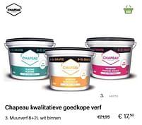 Aanbiedingen Muurverf 8+2l wit binnen - Chapeau - Geldig van 21/05/2021 tot 30/06/2021 bij Multi Bazar