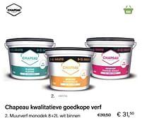 Aanbiedingen Muurverf monodek 8+2l wit binnen - Chapeau - Geldig van 21/05/2021 tot 30/06/2021 bij Multi Bazar