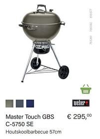 Aanbiedingen Weber master touch gbs c-5750 se - Weber - Geldig van 21/05/2021 tot 30/06/2021 bij Multi Bazar
