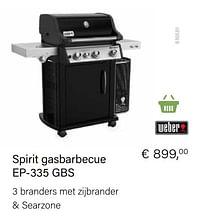 Aanbiedingen Weber spirit gasbarbecue ep-335 gbs - Weber - Geldig van 21/05/2021 tot 30/06/2021 bij Multi Bazar