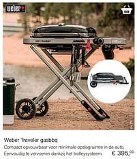 Aanbiedingen Weber traveler gasbbq - Weber - Geldig van 21/05/2021 tot 30/06/2021 bij Multi Bazar