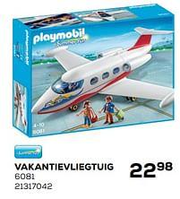 Aanbiedingen Vakantievliegtuig - Playmobil - Geldig van 25/05/2021 tot 22/06/2021 bij Supra Bazar