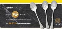Aanbiedingen Style de vie authentique ontvang bij aankoop van dat artikel een gratis one message spoon - Style de Vie - Geldig van 25/05/2021 tot 22/06/2021 bij Supra Bazar