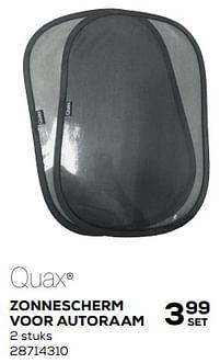 Aanbiedingen Zonnescherm voor autoraam 2 stuks - Quax - Geldig van 25/05/2021 tot 22/06/2021 bij Supra Bazar