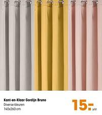 Aanbiedingen Kant-en-klaar gordijn bruno - Huismerk - Kwantum - Geldig van 14/06/2021 tot 27/06/2021 bij Kwantum