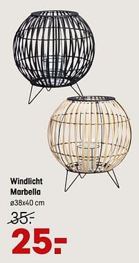 Aanbiedingen Windlicht marbella - Huismerk - Kwantum - Geldig van 14/06/2021 tot 27/06/2021 bij Kwantum