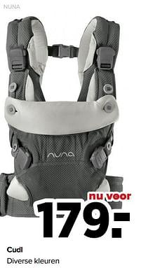 Aanbiedingen Cudl diverse kleuren - Nuna - Geldig van 07/06/2021 tot 03/07/2021 bij Baby-Dump