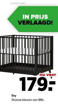 Aanbiedingen Evy diverse kleuren - Europe baby - Geldig van 07/06/2021 tot 03/07/2021 bij Baby-Dump