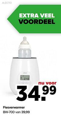 Aanbiedingen Alecto flesverwarmer bw-700 - Alecto - Geldig van 07/06/2021 tot 03/07/2021 bij Baby-Dump