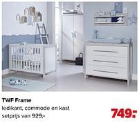 Aanbiedingen Twf frame ledikant, commode en kast - TWF - Geldig van 07/06/2021 tot 03/07/2021 bij Baby-Dump