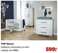 Aanbiedingen Twf wenen ledikant, commode en kast - TWF - Geldig van 07/06/2021 tot 03/07/2021 bij Baby-Dump