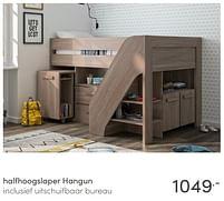 Aanbiedingen Halfhoogslaper hangun - Huismerk - Baby & Tiener Megastore - Geldig van 13/06/2021 tot 19/06/2021 bij Baby & Tiener Megastore