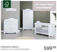Aanbiedingen Babykamer daphne - Huismerk - Baby & Tiener Megastore - Geldig van 13/06/2021 tot 19/06/2021 bij Baby & Tiener Megastore