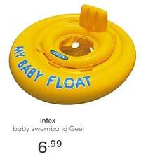Aanbiedingen Intex baby zwemband geel - Intex - Geldig van 13/06/2021 tot 19/06/2021 bij Baby & Tiener Megastore