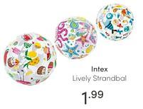 Aanbiedingen Intex lively strandbal - Intex - Geldig van 13/06/2021 tot 19/06/2021 bij Baby & Tiener Megastore