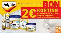 Aanbiedingen Bon polyfilla 2€ KORTING - Polyfilla - Geldig van 22/06/2021 tot 19/07/2021 bij Zelfbouwmarkt