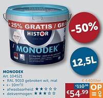 Aanbiedingen Monodek - Histor - Geldig van 22/06/2021 tot 19/07/2021 bij Zelfbouwmarkt