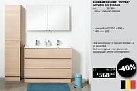 Aanbiedingen Badkamermeubel dotan naturel eik staand spiegelkast - Mio Bagno - Geldig van 20/07/2021 tot 16/08/2021 bij Zelfbouwmarkt