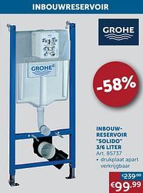 Aanbiedingen Inbouwreservoir solido 3-6 liter - Grohe - Geldig van 20/07/2021 tot 16/08/2021 bij Zelfbouwmarkt