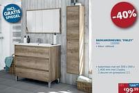 Aanbiedingen Badkamermeubel finley kolomkast mat wit - Simply - Geldig van 20/07/2021 tot 16/08/2021 bij Zelfbouwmarkt
