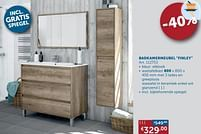 Aanbiedingen Badkamermeubel finley wastafelkast - Simply - Geldig van 20/07/2021 tot 16/08/2021 bij Zelfbouwmarkt