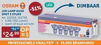 Aanbiedingen Led lamp gu10 spot 5 stuks - Osram - Geldig van 20/07/2021 tot 16/08/2021 bij Zelfbouwmarkt