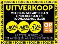 Aanbiedingen Uitverkoop meer dan 500 artikelen einde reeksen en toonzaalmodellen -30% korting -  - Geldig van 20/07/2021 tot 16/08/2021 bij Zelfbouwmarkt