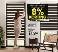 Aanbiedingen Duo-rolgordijnen op maat gemaakt - Huismerk - Kwantum - Geldig van 19/07/2021 tot 08/08/2021 bij Kwantum