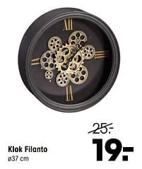 Aanbiedingen Klok filanto - Huismerk - Kwantum - Geldig van 19/07/2021 tot 08/08/2021 bij Kwantum