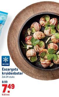 Aanbiedingen Escargots kruidenboter - Huismerk - Makro - Geldig van 07/07/2021 tot 03/08/2021 bij Makro