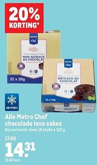 Aanbiedingen Metro chef chocolade lava cakes - Huismerk - Makro - Geldig van 07/07/2021 tot 03/08/2021 bij Makro
