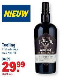 Aanbiedingen Teeling irish whiskey - Teeling Irish - Geldig van 07/07/2021 tot 03/08/2021 bij Makro