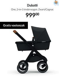 Aanbiedingen Dubatti one, 2-in-1 kinderwagen. zwart-cognac - Dubatti - Geldig van 20/07/2021 tot 16/08/2021 bij Babypark