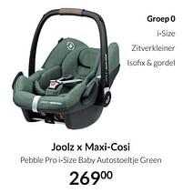 Aanbiedingen Joolz x maxi-cosi pebble pro i-size baby autostoeltje green - Joolz - Geldig van 20/07/2021 tot 16/08/2021 bij Babypark