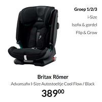 Aanbiedingen Britax römer advansafix i-size autostoeltje cool flow - black - Britax - Geldig van 20/07/2021 tot 16/08/2021 bij Babypark