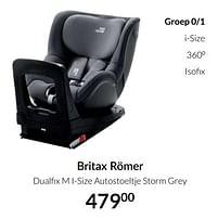 Aanbiedingen Britax römer dualfix m i-size autostoeltje storm grey - Britax - Geldig van 20/07/2021 tot 16/08/2021 bij Babypark