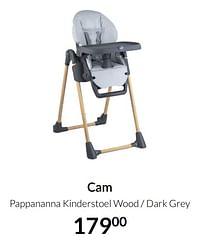 Aanbiedingen Cam pappananna kinderstoel wood - dark grey - Cam - Geldig van 20/07/2021 tot 16/08/2021 bij Babypark