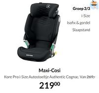 Aanbiedingen Maxi-cosi kore pro i-size autostoeltje authentic cognac - Maxi-cosi - Geldig van 20/07/2021 tot 16/08/2021 bij Babypark