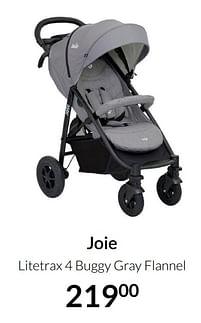 Aanbiedingen Joie litetrax 4 buggy gray flannel - Joie - Geldig van 20/07/2021 tot 16/08/2021 bij Babypark