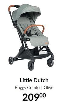 Aanbiedingen Little dutch buggy comfort olive - Little Dutch - Geldig van 20/07/2021 tot 16/08/2021 bij Babypark