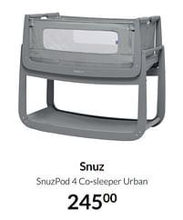 Aanbiedingen Snuz snuzpod 4 co-sleeper urban - SNÃœZ - Geldig van 20/07/2021 tot 16/08/2021 bij Babypark