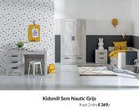 Aanbiedingen Kidsmill sem nautic grijs kast 2-drs - Kidsmill - Geldig van 20/07/2021 tot 16/08/2021 bij Babypark